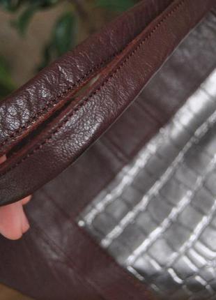 Кожаная сумка шоппер тоут stow london / шкіряна сумка8