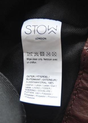 Кожаная сумка шоппер тоут stow london / шкіряна сумка10
