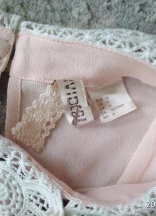 H&m стильная юбка карандаш и пудровая блуза-xs4