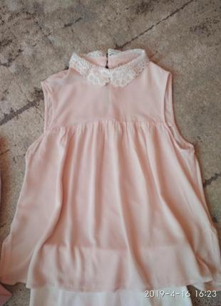 H&m стильная юбка карандаш и пудровая блуза-xs5