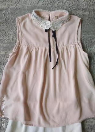 H&m стильная юбка карандаш и пудровая блуза-xs6