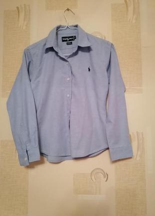 Котоновая рубашка ralph lauren2