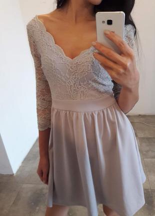 Романтическое платье с кружевом1