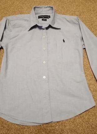 Котоновая рубашка ralph lauren