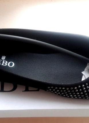 Bebo, балетки с диамантами, uk 5 новые.4