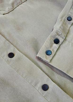 Платье рубашка хаки на кнопках4