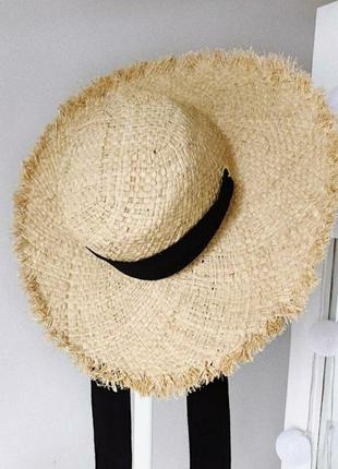 Тренд 2019! стильная соломенная шляпа широкополая, солом'яний капелюх1