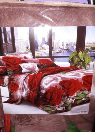 Евро постельный комплект- расцветки в ассортименте