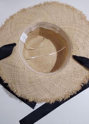 Тренд 2019! стильная соломенная шляпа широкополая, солом'яний капелюх5