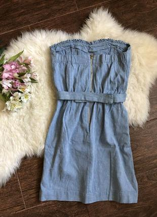 Шикарный джинсово льняной платье сарафан sandro paris4