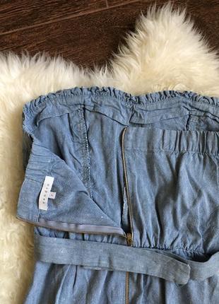 Шикарный джинсово льняной платье сарафан sandro paris8