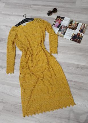 Ажурное, кружевное платье от zara knit1