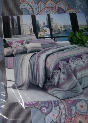 Двуспальный постельный комплект- расцветки в ассортименте