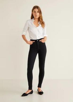 Базовые джинсы скинны высокая посадка от mango2