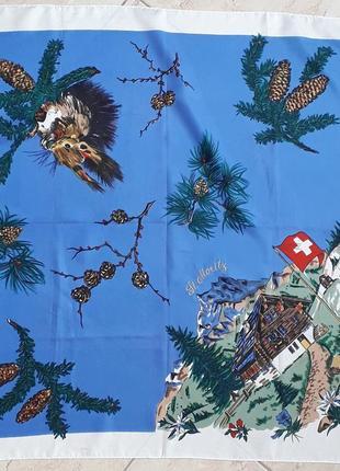 Шикарный  платок st.moritz винтаж