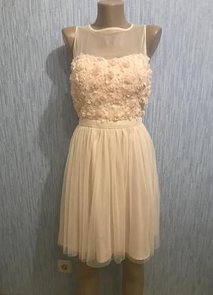 Шикарное персиковое платье на выпускной2