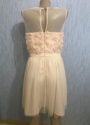 Шикарное персиковое платье на выпускной4