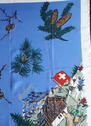 Шикарный  платок st.moritz винтаж3