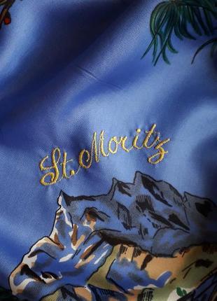 Шикарный  платок st.moritz винтаж6