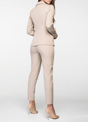 Женский деловой брючный костюм с двубортным пиджаком и зауженными брюками(4 цвета:xs,s,m)2
