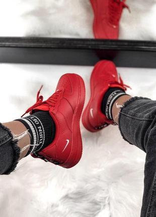 Шикарные кроссовки nike air force 1 low red 😍 (весна/ лето/ осень), (женские/ мужские)2