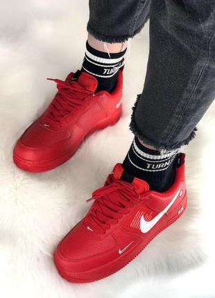 Шикарные кроссовки nike air force 1 low red 😍 (весна/ лето/ осень), (женские/ мужские)4