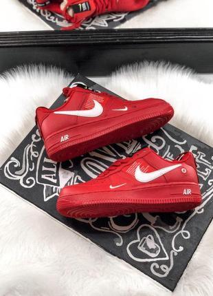 Шикарные кроссовки nike air force 1 low red 😍 (весна/ лето/ осень), (женские/ мужские)6