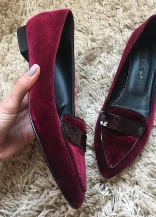 Туфли бархатние бордо1