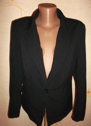 Распродажа пиджаков черный классика  на одной пуговице р.l - h&m2 фото
