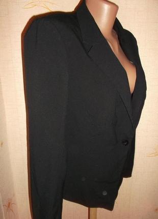 Распродажа пиджаков черный классика  на одной пуговице р.l - h&m3 фото