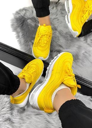 Шикарные женские кроссовки nike air max 97 yellow 😍 (весна/ лето/ осень)6