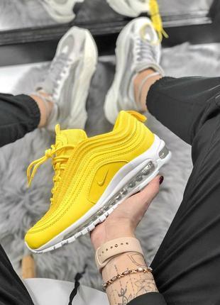 Шикарные женские кроссовки nike air max 97 yellow 😍 (весна/ лето/ осень)1