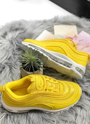 Шикарные женские кроссовки nike air max 97 yellow 😍 (весна/ лето/ осень)8