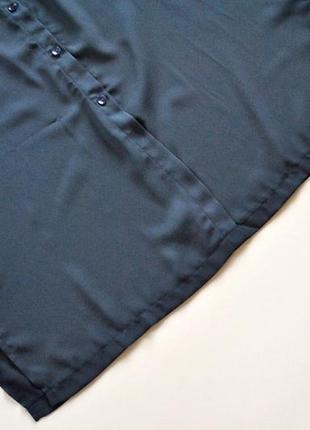 Платье-рубашка в оттенке полуночной синевы! размер s.5