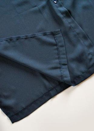Платье-рубашка в оттенке полуночной синевы! размер s.8