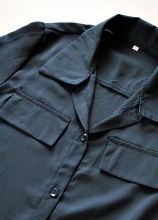 Платье-рубашка в оттенке полуночной синевы! размер s.3
