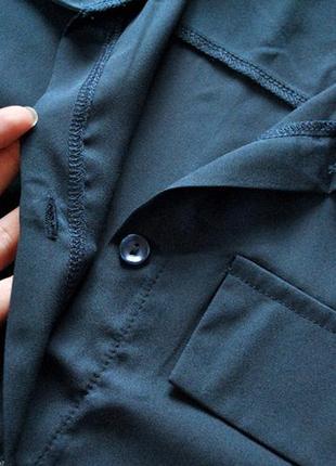 Платье-рубашка в оттенке полуночной синевы! размер s.4