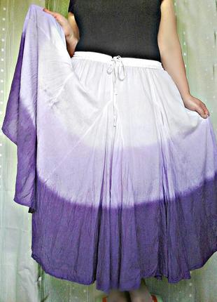 Роскошная юбка из батиста, 100% хлопок, батал (р.26/60)1