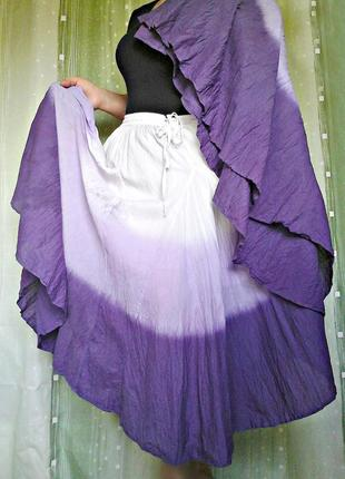 Роскошная юбка из батиста, 100% хлопок, батал (р.26/60)2