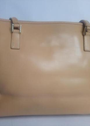 Большая брендовая кожаная сумка lancaster (франция)2