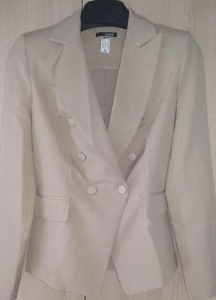 Женский деловой брючный костюм с двубортным пиджаком и зауженными брюками(4 цвета:xs,s,m)4