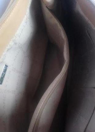 Большая брендовая кожаная сумка lancaster (франция)7