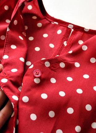 Платье длины миди в горошек! размер s.5