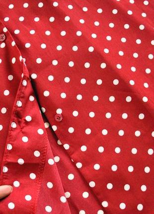 Платье длины миди в горошек! размер s.8
