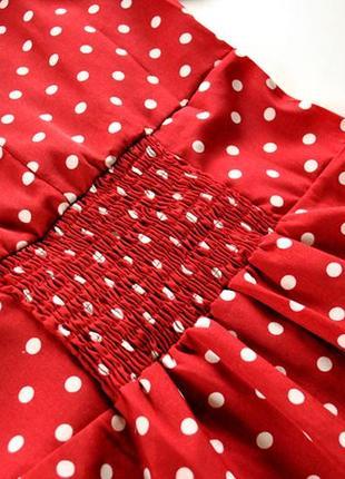 Платье длины миди в горошек! размер s.9