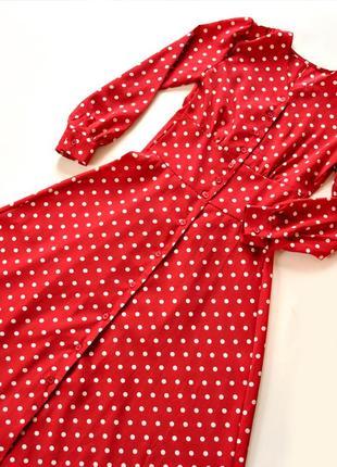 Платье длины миди в горошек! размер s.2