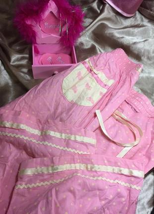 Розовые пижамные штанишки3