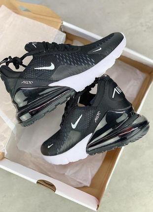 Шикарные кроссовки nike air max 270 black 😍 (весна/ лето/ осень), (женские/ мужские)7