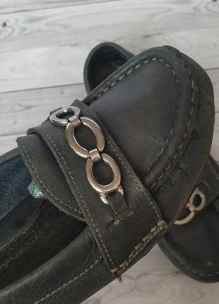 37р кожа!fila италия,синие туфли лоферы,мокасины3
