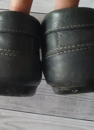 37р кожа!fila италия,синие туфли лоферы,мокасины6